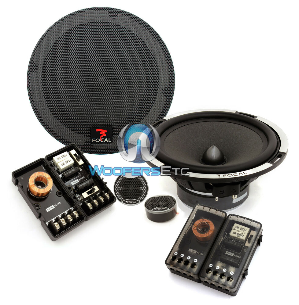 medium resolution of focal expert ps 165x2 6 5 car 2 ohm component speakers tweeters crossovers new ebay