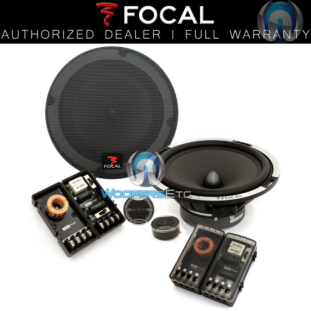 hight resolution of focal expert ps 165x2 6 5 car 2 ohm component speakers tweeters crossovers new ebay