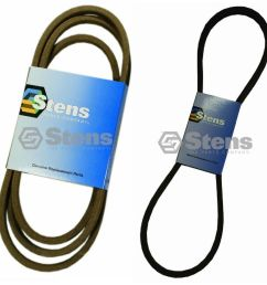 details about stens primary secondary drive belts for 754 0467a 754 0468 112 0305 lx423 lx425 [ 1000 x 1000 Pixel ]