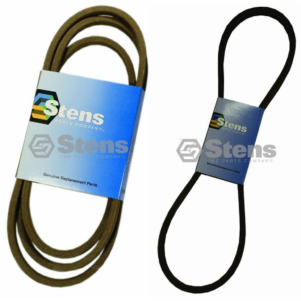 hight resolution of details about stens primary secondary drive belts for 754 0467a 754 0468 112 0305 lx423 lx425