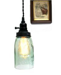 Antique Mason Jar Pendant Ceiling Mounted Glass Light ...