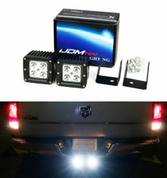details about 40w led pods w backup tow hitch bracket wiring for 03 dodge ram 1500 2500 3500 [ 1000 x 1000 Pixel ]