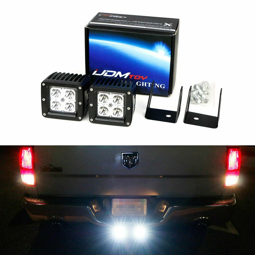 medium resolution of details about 40w led pods w backup tow hitch bracket wiring for 03 dodge ram 1500 2500 3500
