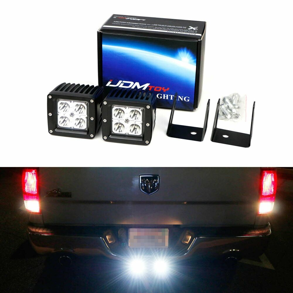 hight resolution of details about 40w led pods w backup tow hitch bracket wiring for 03 dodge ram 1500 2500 3500