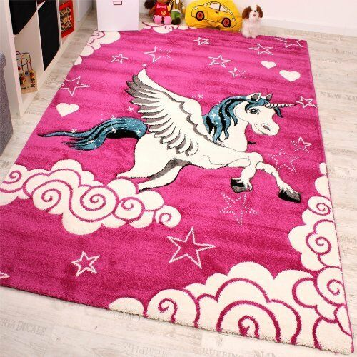 Kids Rug Pink Unicorn Girls Cute Soft Carpet Children Area Bedroom High Quality  eBay