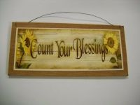 sunflowers count your blessings country kitchen wooden ...