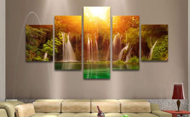 5 Pcs Large Modern Hand Painted Art Oil Painting Wall