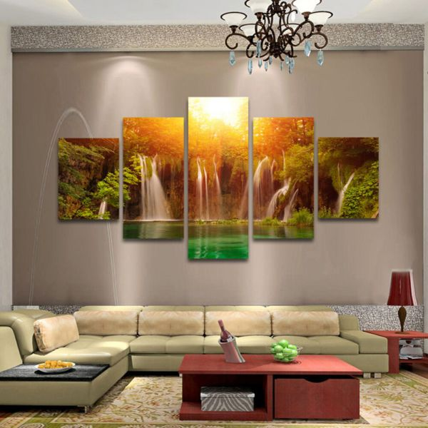 5 Pcs Large Modern Hand-painted Art Oil Painting Wall