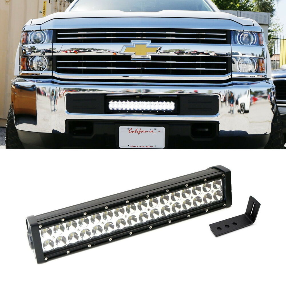 hight resolution of details about 96w led light bar w lower bumper bracket wiring for 15 up silverado 2500 3500