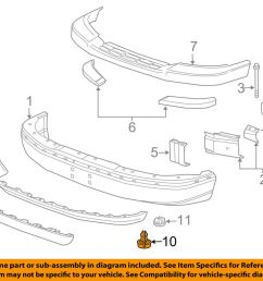 details about gm oem front bumper air deflector pin clip retainer 15733971 [ 1000 x 798 Pixel ]