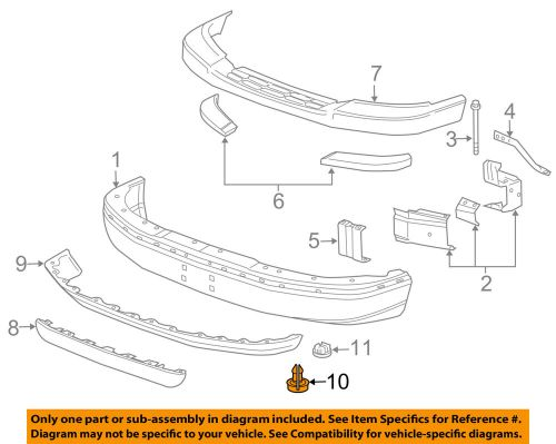 small resolution of details about gm oem front bumper air deflector pin clip retainer 15733971