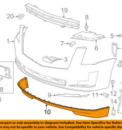 details about cadillac gm oem 15 16 escalade front bumper spoiler lip chin splitter 22968432 [ 1000 x 798 Pixel ]
