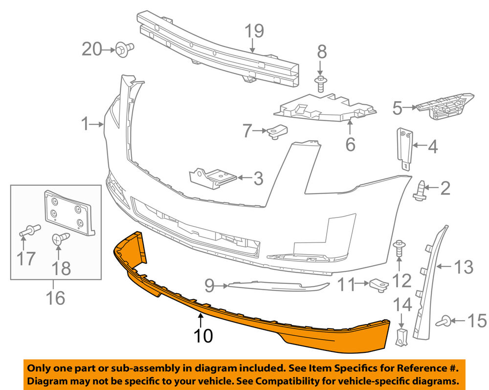 hight resolution of details about cadillac gm oem 15 16 escalade front bumper spoiler lip chin splitter 22968432