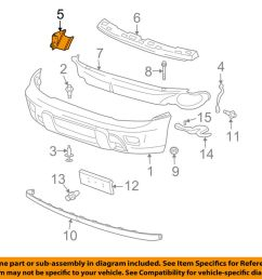 details about gm oem front bumper bumper cover support bracket right 15147254 [ 1000 x 798 Pixel ]
