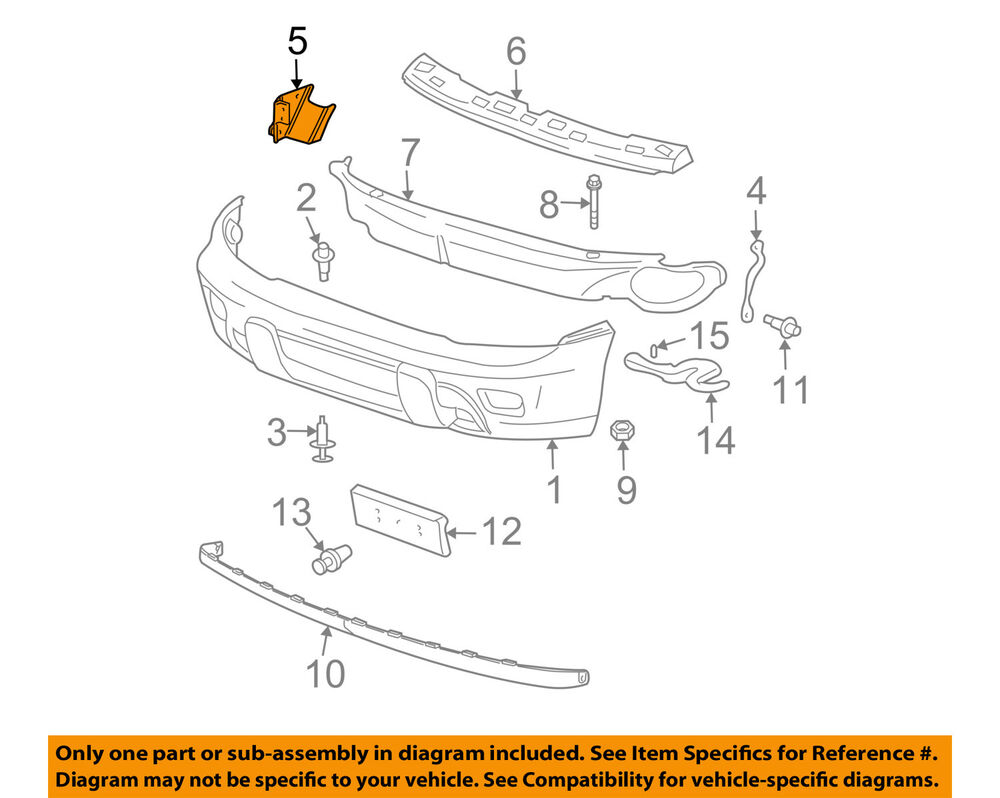 medium resolution of details about gm oem front bumper bumper cover support bracket right 15147254