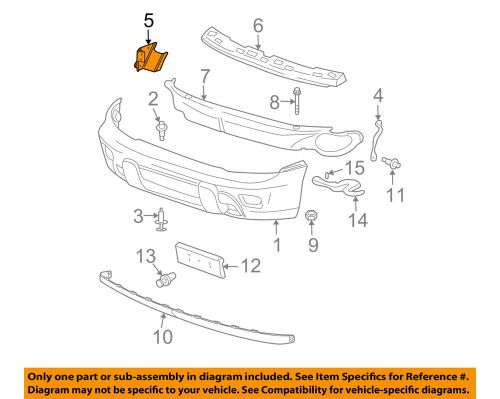 small resolution of details about gm oem front bumper bumper cover support bracket right 15147254