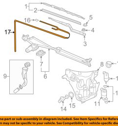 gm oem wiper washer windshield hose 12494799 ebay 2002 buick rendezvous cxl plus wiper washer components diagram [ 1000 x 798 Pixel ]