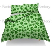 Cannabis Marijuana Weed Leaf Design Duvet/Quilt Cover