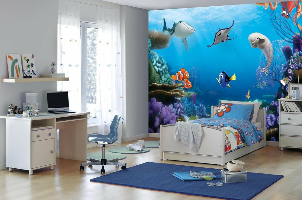 Disney Cars Mural Wallpaper Ebay Giant Wallpaper 368x254cm Finding Dory Disney Boys Amp Girls