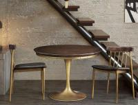 Mid Century Modern Brass Tulip Dining Game Table & Chairs ...