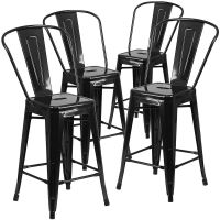 "Modern Industrial Bucket Back Barstool, 30""inch Seat ..."