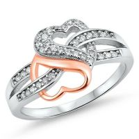.925 Sterling Silver Rose Gold Plated Heart Infinity Knot ...