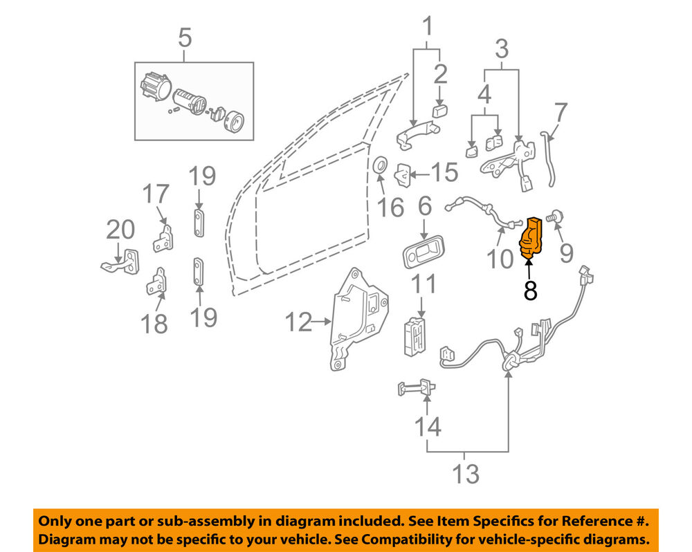hight resolution of details about cadillac gm oem 05 11 sts front door lock actuator motor 19210214