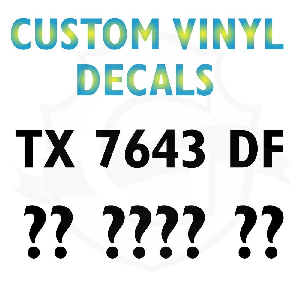 REGISTRATION NUMBERS JET SKI AND BOAT DECALS STICKERS