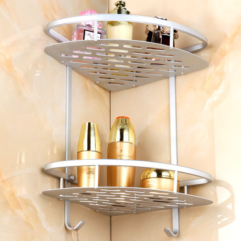Corner Shower Caddy 2 Shelf Storage Bathroom Organizer Shelves Bathroom Accessor  eBay