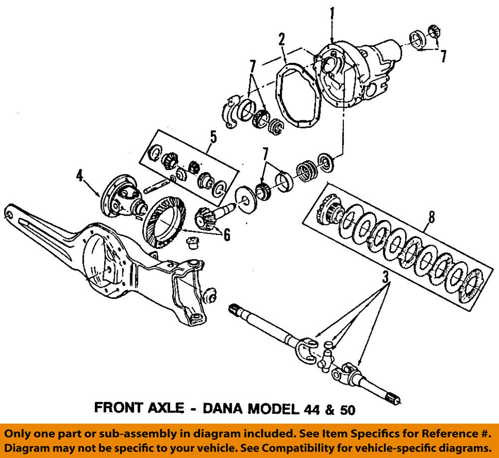 hight resolution of details about ford oem 84 97 f 350 front differential pinion bearing 8a4628