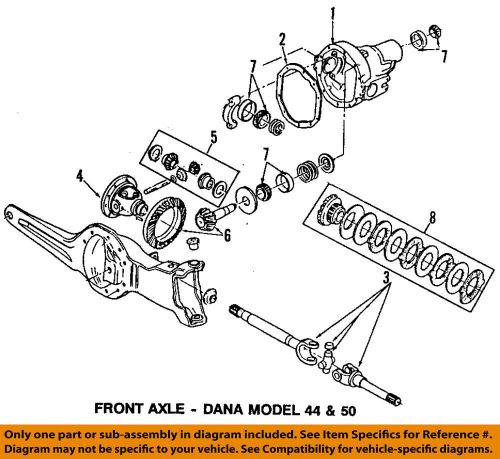 small resolution of details about ford oem 84 97 f 350 front differential pinion bearing 8a4628