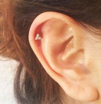 Triangle Crystal Gem Tragus Helix Bar Cartilage Ear ...