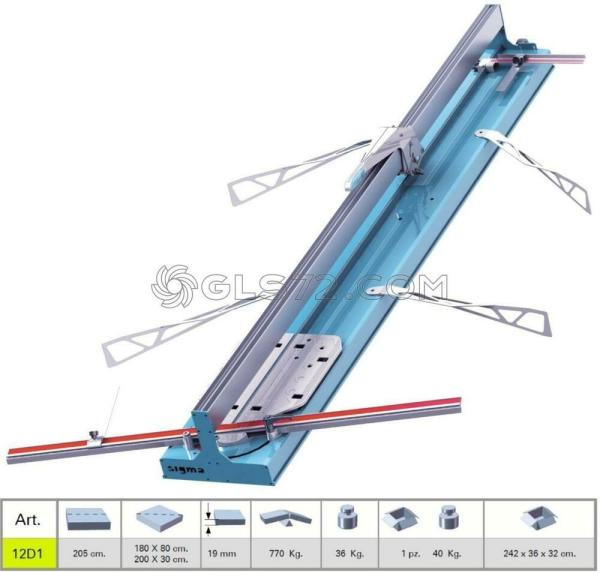 Tile Cutter Machine Manual Push Handle Sigma 12d1 Cutting
