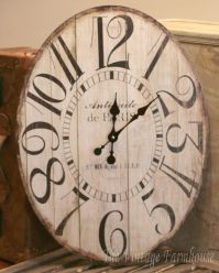 VINTAGE STYLE OVAL WALL CLOCK Large ANTIQUE STYLE Gallery ...