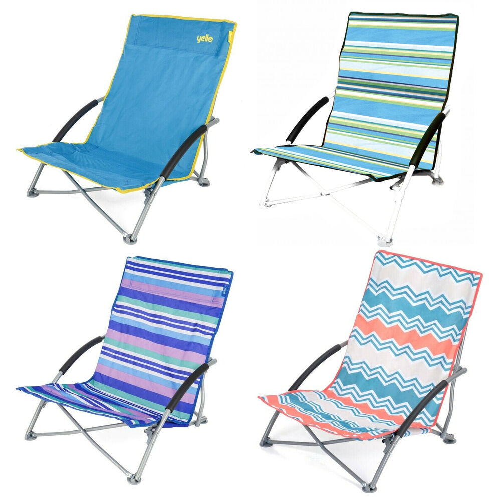 Low Folding Beach Chair Low Folding Beach Chair Camping Festival Beach Pool Picnic Deckchair Lounger Ebay