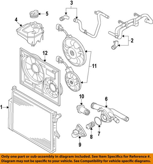 small resolution of details about vw volkswagen oem 07 11 touareg engine coolant thermostat housing 03h 121 117 a