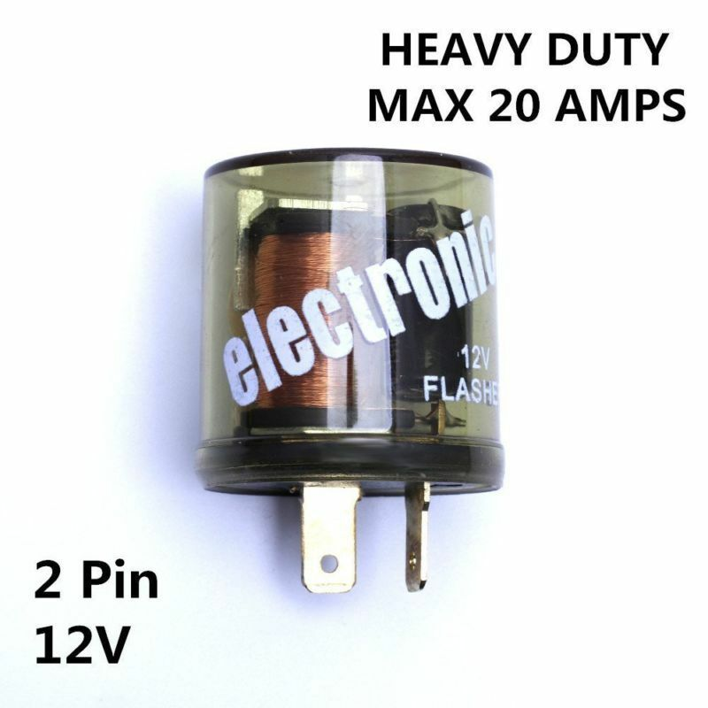 4 Prong Relay Wiring Diagram 12v Electronic Turn Signal Flasher Relay Led 2 Prong
