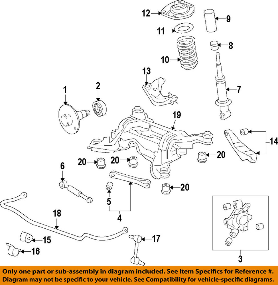 hight resolution of details about chevrolet gm oem 10 15 camaro rear suspension knuckle spindle 23262763