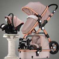3 in 1 Travel System Baby Stroller High View Car Seat ...
