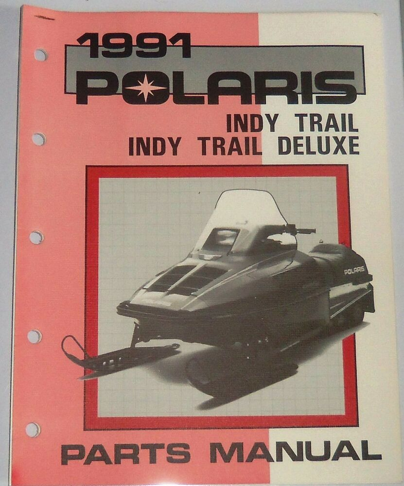 hight resolution of details about vintage polaris used snowmobile parts manual indy trail deluxe 1991 9911928
