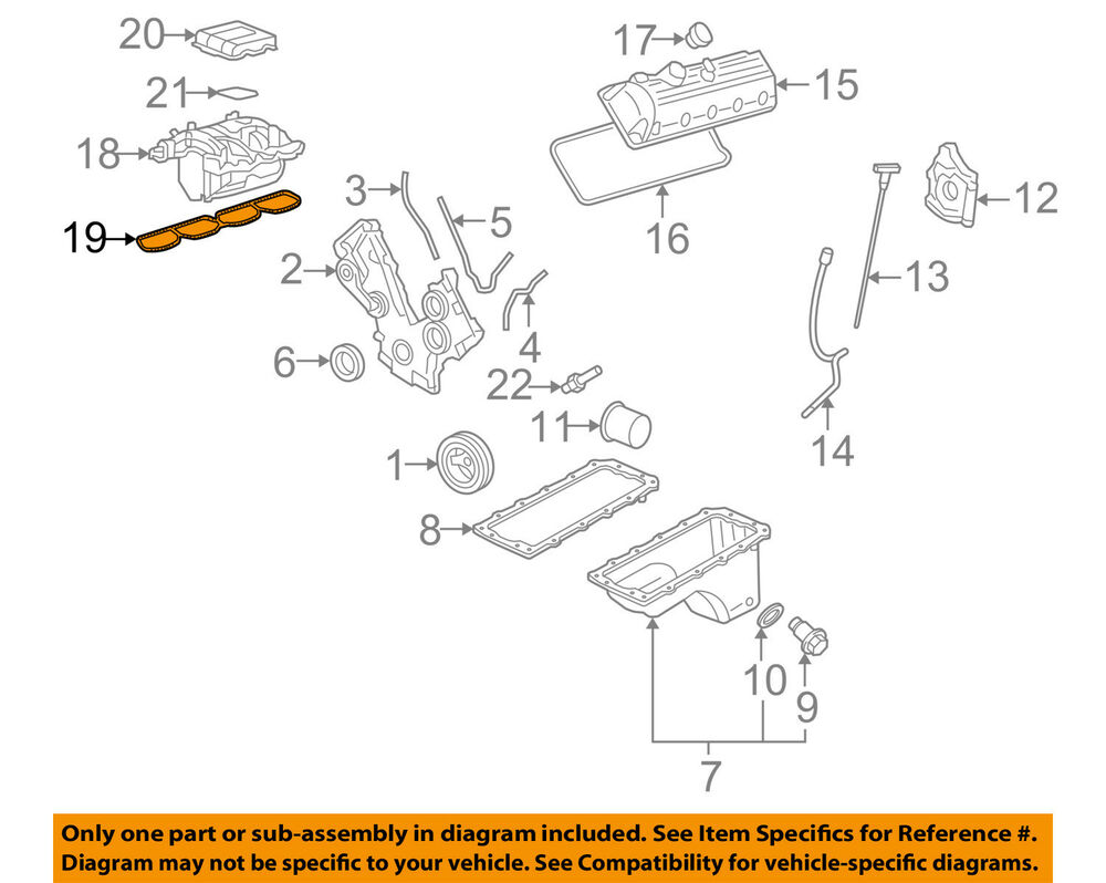 medium resolution of details about ford oem engine intake manifold gasket 4r3z9439aa