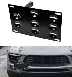 bumper tow hook license plate bracket mount holder for porsche macan audi q5 trailer hitch besides 2011 audi q5 wiring harness connector l4 [ 1000 x 1000 Pixel ]