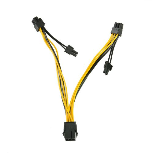 small resolution of details about pci e 6 pin to 2x 6 2 pin power splitter cable pcie pci express 6 pin 8 pin