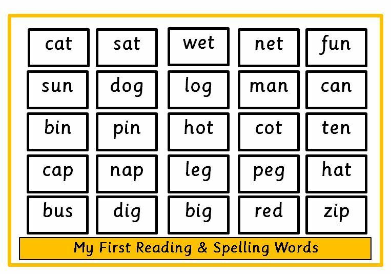 Recognise & Read 3 Letter Words  Spellings  Reception Ks1  Eyfs  Ebay