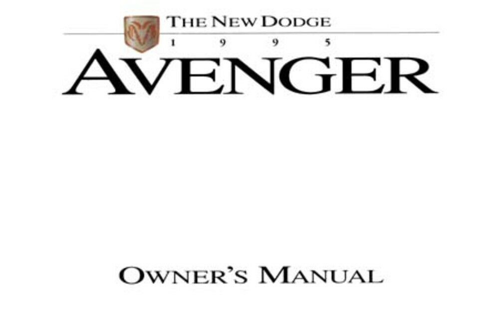 1995 Dodge Avenger Owners Manual User Guide Reference