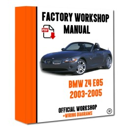 official workshop manual service repair bmw series z4 e85 2003 2005 7625694386327  [ 800 x 1000 Pixel ]