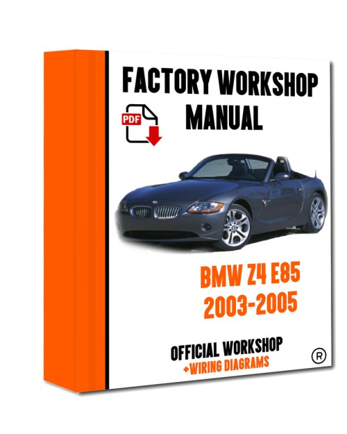 small resolution of official workshop manual service repair bmw series z4 e85 2003 2005 7625694386327