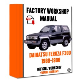 official workshop manual service repair daihatsu feroza f300 1989 1998 7625694395770 ebay [ 800 x 1000 Pixel ]