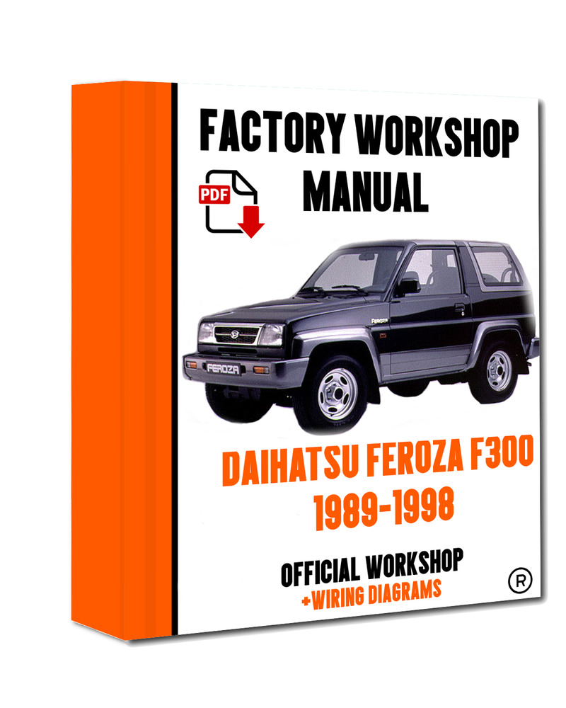 medium resolution of official workshop manual service repair daihatsu feroza f300 1989 1998 7625694395770 ebay