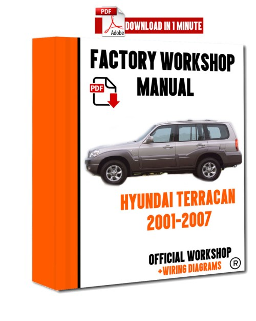 small resolution of official workshop manual service repair hyundai terracan 2001 2007 hyundai terracan wiring diagram